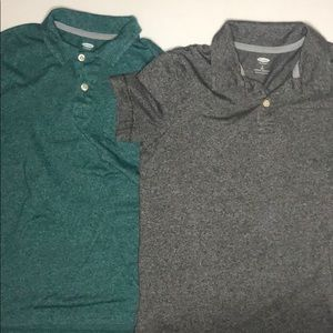 Old Navy teal and gray polos